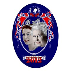 Queen Elizabeth 2012 Jubilee Year Oval Ornament (Two Sides)