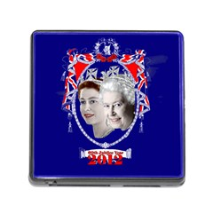 Queen Elizabeth 2012 Jubilee Year Card Reader with Storage (Square)
