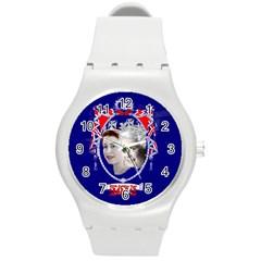 Queen Elizabeth 2012 Jubilee Year Round Plastic Sport Watch Medium