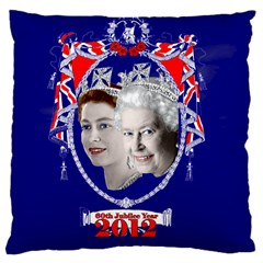 Queen Elizabeth 2012 Jubilee Year Large Cushion Case (Two Sides)