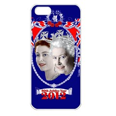 Queen Elizabeth 2012 Jubilee Year Apple Iphone 5 Seamless Case (white)