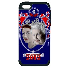 Queen Elizabeth 2012 Jubilee Year Apple iPhone 5 Hardshell Case (PC+Silicone)