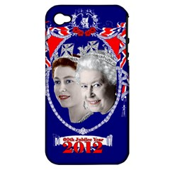 Queen Elizabeth 2012 Jubilee Year Apple Iphone 4/4s Hardshell Case (pc+silicone)