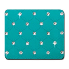 Turquoise Diamond Bling Large Mouse Pad (Rectangle)