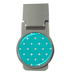 Turquoise Diamond Bling Money Clip (Round)