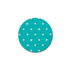 Turquoise Diamond Bling 4 Pack Golf Ball Marker