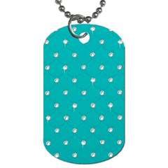 Turquoise Diamond Bling Twin-sided Dog Tag