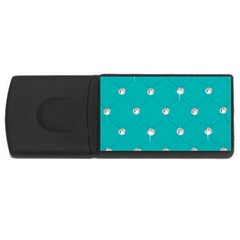 Turquoise Diamond Bling 2Gb USB Flash Drive (Rectangle)