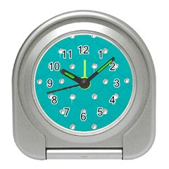 Turquoise Diamond Bling Desk Alarm Clock