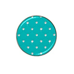 Turquoise Diamond Bling 10 Pack Golf Ball Marker (for Hat Clip)