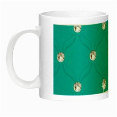 Turquoise Diamond Bling Glow In The Dark Mug
