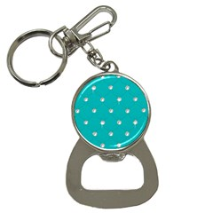Turquoise Diamond Bling Key Chain With Bottle Opener