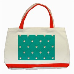Turquoise Diamond Bling Red Tote Bag
