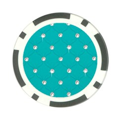 Turquoise Diamond Bling Poker Chip