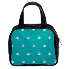 Turquoise Diamond Bling Twin Sided Satched Handbag