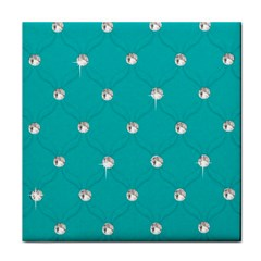 Turquoise Diamond Bling Face Towel