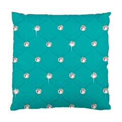 Turquoise Diamond Bling Twin Sided Cushion Case