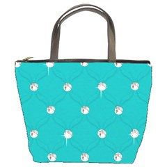 Turquoise Diamond Bling Bucket Handbag