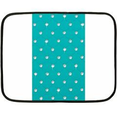 Turquoise Diamond Bling Twin-sided Mini Fleece Blanket
