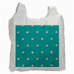 Turquoise Diamond Bling Twin-sided Reusable Shopping Bag