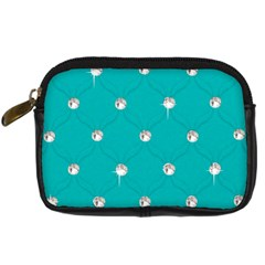 Turquoise Diamond Bling Compact Camera Case