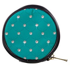 Turquoise Diamond Bling Mini Makeup Case