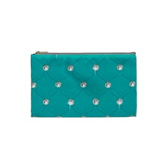 Turquoise Diamond Bling Small Makeup Purse