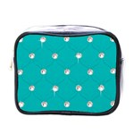 Turquoise Diamond Bling Single-sided Cosmetic Case Front