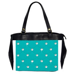 Turquoise Diamond Bling Twin Sided Oversized Handbag