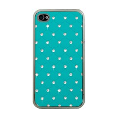 Turquoise Diamond Bling Apple iPhone 4 Case (Clear)