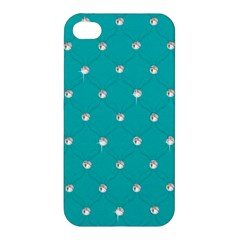 Turquoise Diamond Bling Apple iPhone 4/4S Hardshell Case