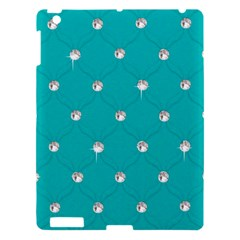 Turquoise Diamond Bling Apple Ipad 3/4 Hardshell Case