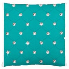 Turquoise Diamond Bling Large Cushion Case (One Side)