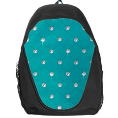 Turquoise Diamond Bling Backpack Bag