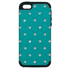 Turquoise Diamond Bling Apple iPhone 5 Hardshell Case (PC+Silicone)