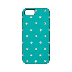 Turquoise Diamond Bling Apple iPhone 5 Classic Hardshell Case (PC+Silicone)