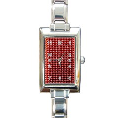 Deep Red Sparkle Bling Classic Elegant Ladies Watch (Rectangle)
