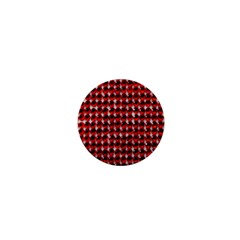 Deep Red Sparkle Bling Mini Button (Round)