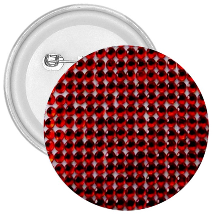 Deep Red Sparkle Bling Large Button (Round)