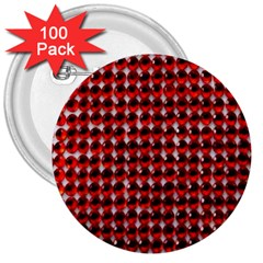 Deep Red Sparkle Bling 100 Pack Large Button (Round)