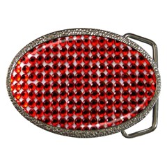 Deep Red Sparkle Bling Belt Buckle (oval)