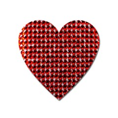 Deep Red Sparkle Bling Large Sticker Magnet (Heart)