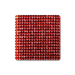 Deep Red Sparkle Bling Large Sticker Magnet (Square)