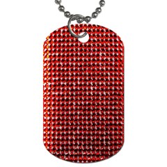 Deep Red Sparkle Bling Single-sided Dog Tag
