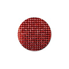 Deep Red Sparkle Bling Golf Ball Marker
