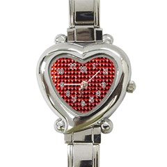 Deep Red Sparkle Bling Classic Elegant Ladies Watch (Heart)