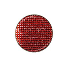 Deep Red Sparkle Bling 4 Pack Golf Ball Marker (for Hat Clip)
