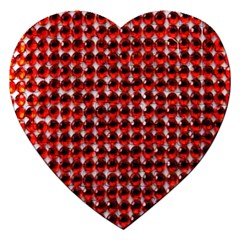 Deep Red Sparkle Bling Jigsaw Puzzle (heart)