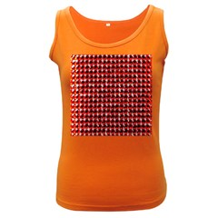 Deep Red Sparkle Bling Dark Colored Womens'' Tank Top