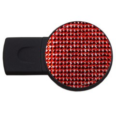 Deep Red Sparkle Bling 4Gb USB Flash Drive (Round)